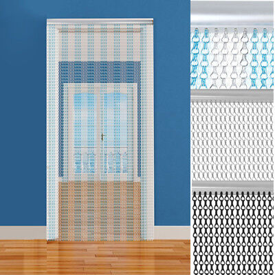 Metal Aluminium Chain Control Insect Screen Link Pest DOOR FLY CURTAIN For Sale