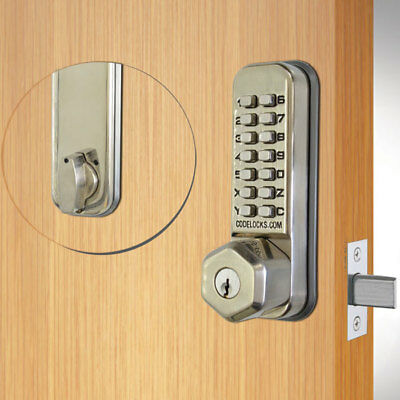 Codelocks CL210 Tubular Deadbolt Key Override SS