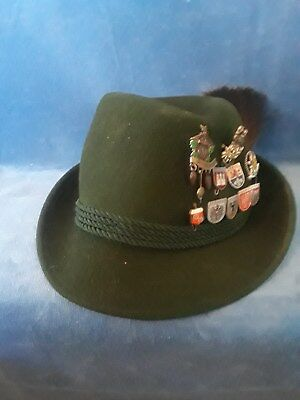 German Bavarian Boar Brush Austria Tyrolean Alpine Hunter Oktoberfest Hat 11 Pin