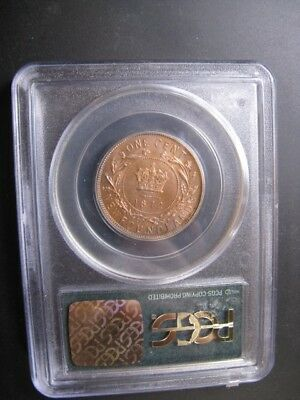 **1872H**, PCGS Graded Newfoundland, Large One Cent, **MS-64**