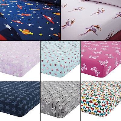 Catherine Lansfield Colourful Childrens Kids Fitted Bed Sheets