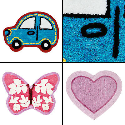 Catherine Lansfield Butterfly Heart Car Shaped Rug for Kids