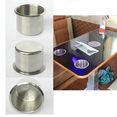 68mm Stainless Steel Recessed Cup Drink Holder for Marine Boat RV Camper