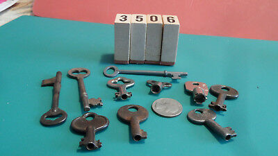 Antique Key Lot 10 Vintage Keys Various Types Lot #3506