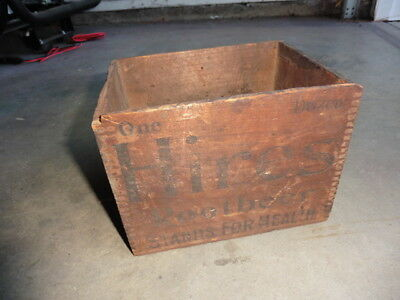 1880s Hires Root Beer Stands For Health Motto Small Wood Box For 1 Doz Bottles