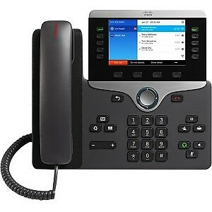 NEW! Cisco 8841 Ip Phone Cable Wall Mountable Voip Caller Id Speakerphoneunified