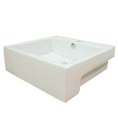 Kingston Concord White China Vessel Bathroom Sink with Overflow Hole EV4034