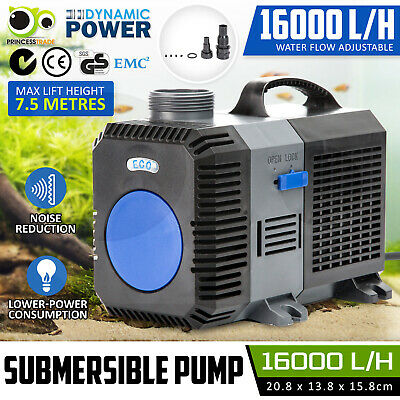 Submersible Aqua Aquarium Fountain Pond Marine Water Pump Fish Tank 16000L/H