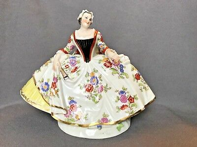 Fine Antique Early Volkstedt German Porcelain Dresden Meissen Lady Figurine Doll