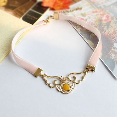 Cardcaptor Sakura Kinomoto Wings Star Cosplay Necklace Lolita Girls Pink Choker