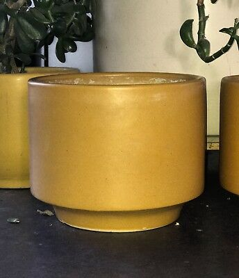 Mid Century Modern 60s ARCHITECTURAL POTTERY PLANTER POT Gainey LA VERNE CA Mod