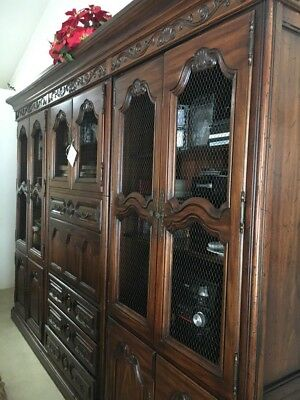 Ethan Allen Wall Unit with Desk Shelving