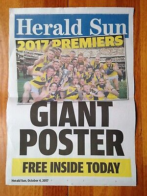 Richmond Tigers 2017 Afl Premiers News Stand Poster - Herald Sun