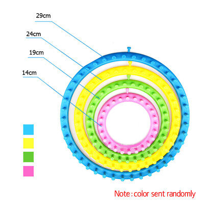 Plastic Round Circle Hat Scarf Sweater Flower Loom Set DIY Wool Knit Tool