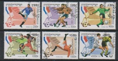 Cambodia - 1998, World Cup Football set - CTO - SG 1726/31