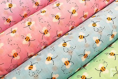 Buzzing Bees Design - Printed Poly Cotton Fabric