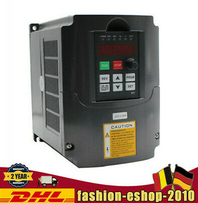 DE STOCK 2.2KW 220V VARIABLE FREQUENCY DRIVE INVERTER VFD 3HP 10A For CNC Router