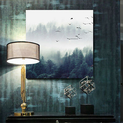Nordic Style Forest Bird Landscape Canvas Painting Print Home Room Wall Decor