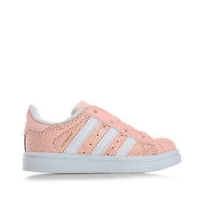 Infant Girls adidas Originals Superstar Reptile Trainers In Pink