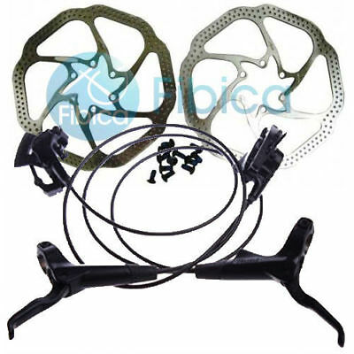 New Avid DB 1 DB1 MTB Hydraulic Disc Brake set Elixir HS1 Rotors Black