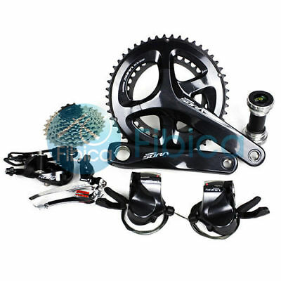 New Shimano SORA R3000 Flat Shifters Road 9-speed 50/34T 28T Groupset Group