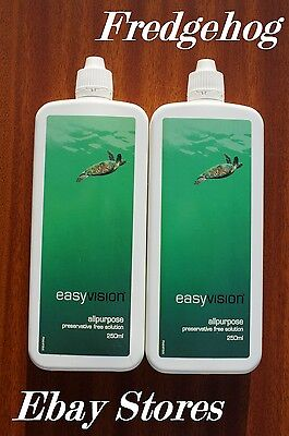 2 x 250ML BOTTLES EASY VISION ALL PURPOSE CONTACT LEND SOLUTION - SPECSAVERS