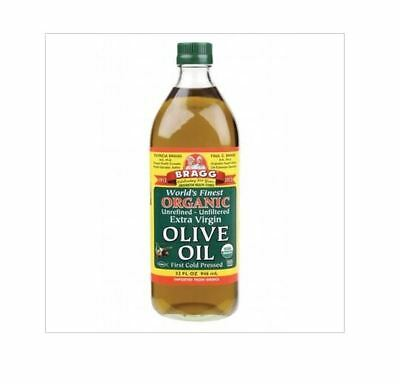 2 x 946ml BRAGG Olive Oil (Extra Virgin) Unrefined & Unfiltered