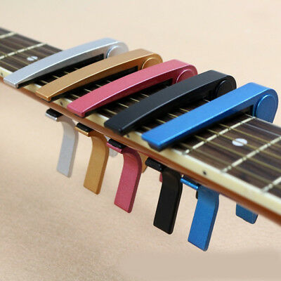 Aluminium Guitar Capo Quick Trigger Release Acoustic & Electric by Abelli Studio