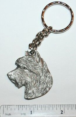 "Australian Terrier Rawcliffe Pewter ""I Love My Dog"" Vintage Keychain"