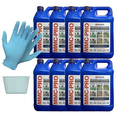 MMC PRO - 8 X 5L CONCENTRATED MOSS AND ALGAE KILLER + FREE 120ml POT & GLOVES