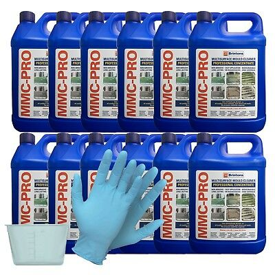 MMC PRO - 12 X 5L CONCENTRATED MOSS AND ALGAE KILLER + FREE 120ml POT & GLOVES