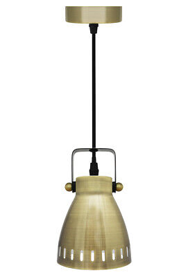 Retro Vintage Antique Brass Ceiling Hanging Pendant Shade Light Lamp M011