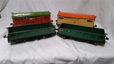 Lot of 4 Lionel Lines Vintage Standard Gauge Freight 512 513 514 Gondola Cattle