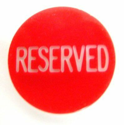 """Brybelly 1.25"""" Reserved Engraved Poker Button"""