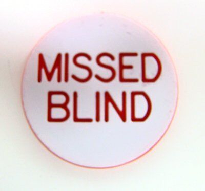 """Brybelly 1.25"""" Missed Blind Engraved Poker Button"""