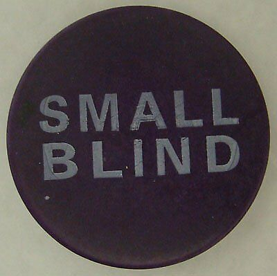 """Brybelly 2"""" Printed Small Blind Poker Button, Purple"""