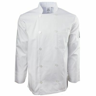 Chef Revival J100-M Basic White Double Breasted Medium Chef Coat