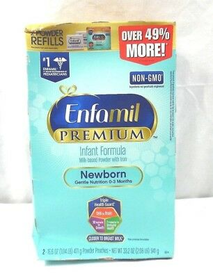 Enfamil Newborn PREMIUM Non-GMO Infant Formula, Powder, 33.2 oz