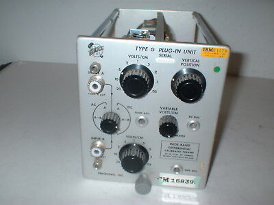 Tektronix Wide Band  Differential Preamp Type G Plug-In Unit  BOX#7S