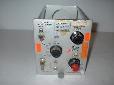 Tektronix Type B Oscilloscope Plug-In Unit Wide Band Preamp   BOX#7S
