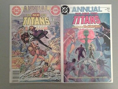 (1982) Dc Comics The New Teen Titans Annual #1 + 1985 F/vf Flat Rate Shipping