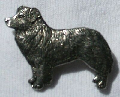 BORDER COLLIE Fine PEWTER PIN Jewelry Art USA Made
