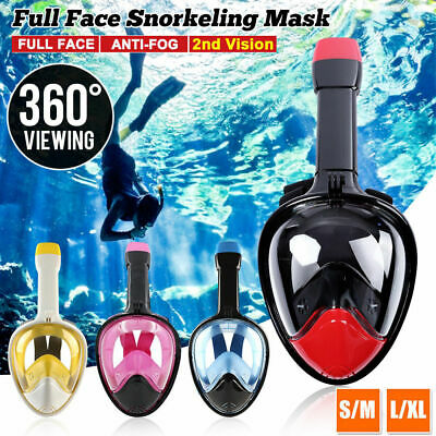 3D 360° Viewing Full Face Snorkeling Mask 2nd Vision Diving Mask For Gopro Swim