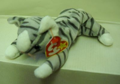 #3279 NWT RETIRED TY 1997 Prance the Cat Beanie Baby Plush DOB 11-20-97