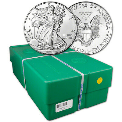 2018 American Silver Eagle (1 oz) $1 - BU - Sealed 500 Coin Monster Box