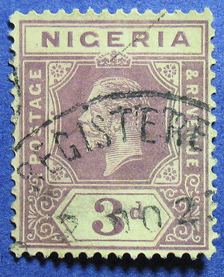1921 NIGERIA 3d SCOTT# 5 S.G.# 5e USED                                   CS08539