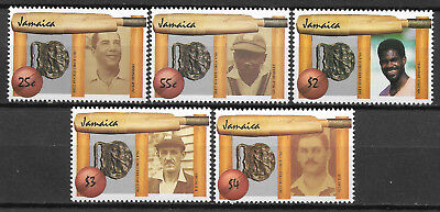 JAMAICA 1988 CRICKET DIAMOND JUBILEE 5v MNH