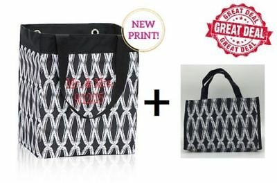 GIFT SET Thirty one Essential storage mini tote bag in Black links 31 gift New