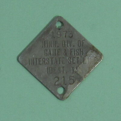 1973 Minnesota Boundary Waters Interstate Setline License Tag ...Free Shipping!