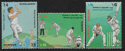 BANGLADESH 1996 CRICKET WORLD CUP 3v Mint Never Hinged